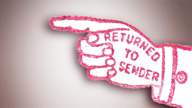 Returned to Sender Stamp